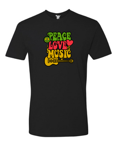 Peace Love Music Tee