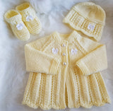 Cariad Baby Knitting Pattern 0-3mths - Download - Designs By Tracy D