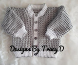 Frankie Unisex Baby Knitting Pattern 0-12mths- Download - Designs By Tracy D