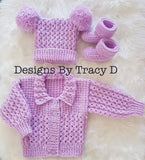 Skye 0-3/3-6mth Baby Knitting Pattern - Posted - Designs By Tracy D