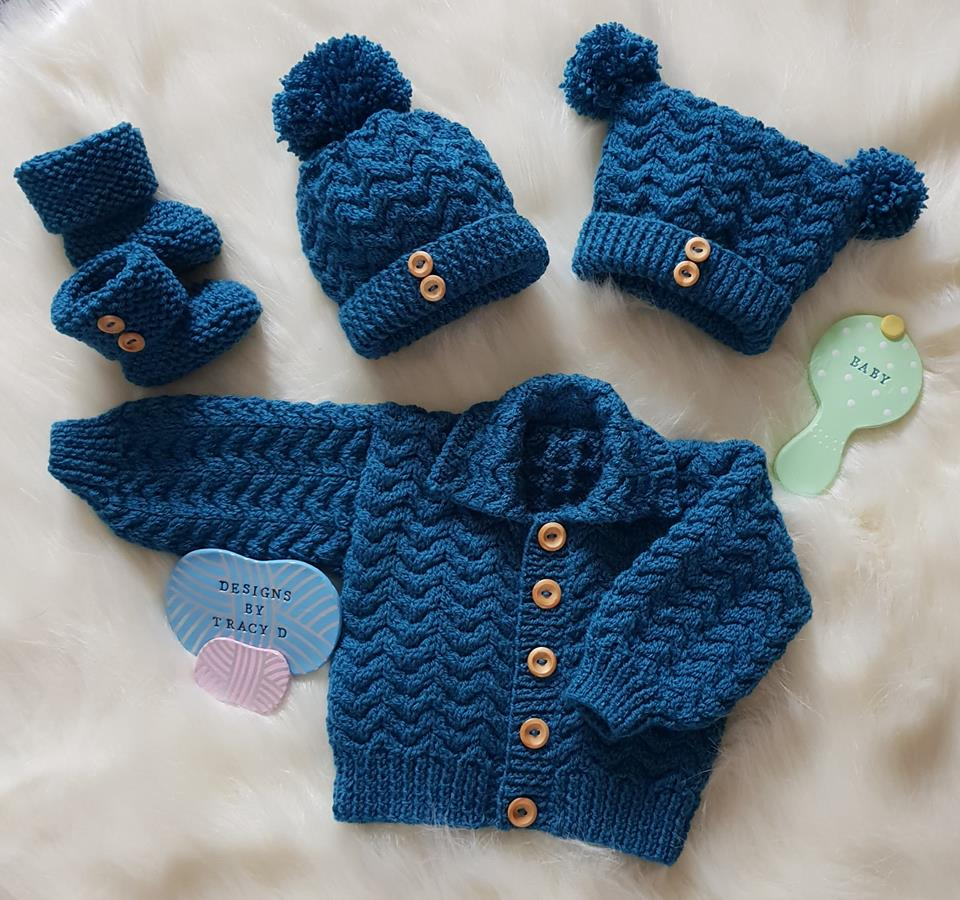 Isaac Unisex Baby Knitting Pattern - Designs By Tracy D