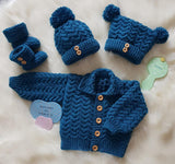 Isaac Unisex Baby Knitting Pattern 0-3 & 6-12mths - Download - Designs By Tracy D