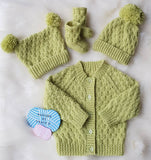 "Harper Baby Knitting Pattern 0-6months 18"" chest - Download - Designs By Tracy D"