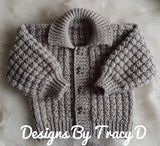 "Noah Baby Knitting 16-18"", 18-20"", & 20-22"" chest- Download - Designs By Tracy D"