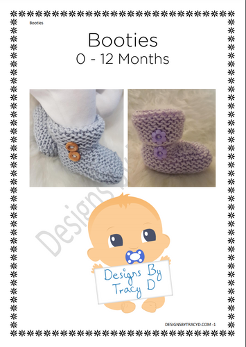 Booties (Unisex) - Posted - Designs By Tracy D