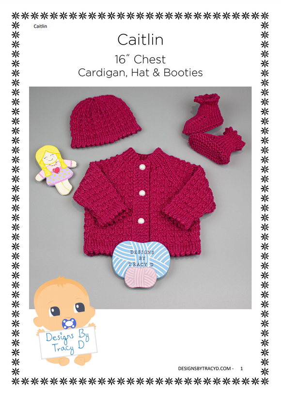 Caitlin Baby Knitting Pattern 16
