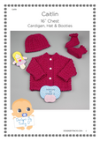 "Caitlin Baby Knitting Pattern 16"" chest - Download - Designs By Tracy D"