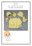 "Evie 16-18"" & 18-20"" chest Baby Knitting Pattern - Posted - Designs By Tracy D"