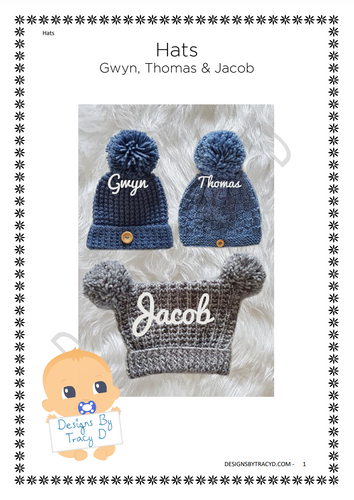 18. Baby Hats - Posted - Designs By Tracy D