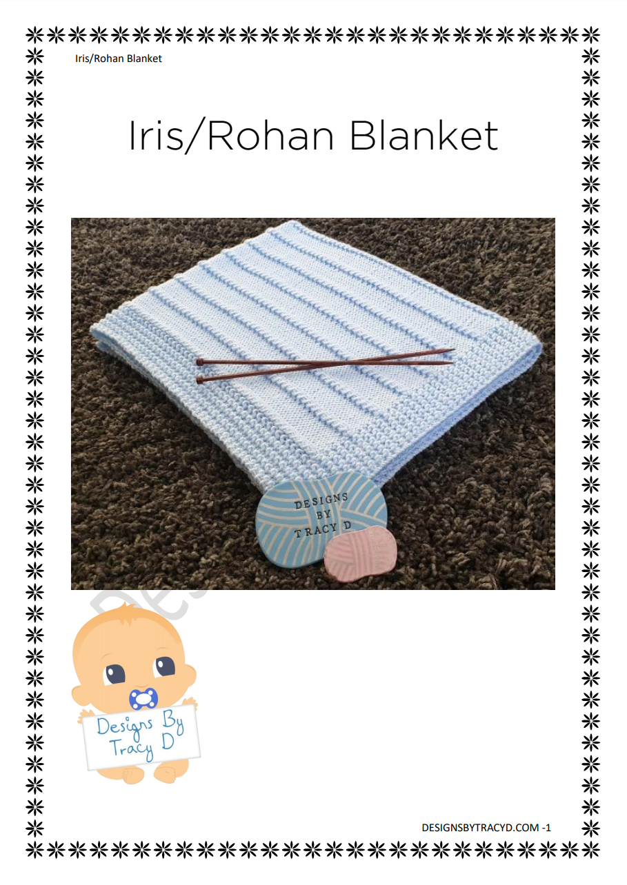 40. Iris - Rohan Blanket Knitting Pattern  - Download - Designs By Tracy D