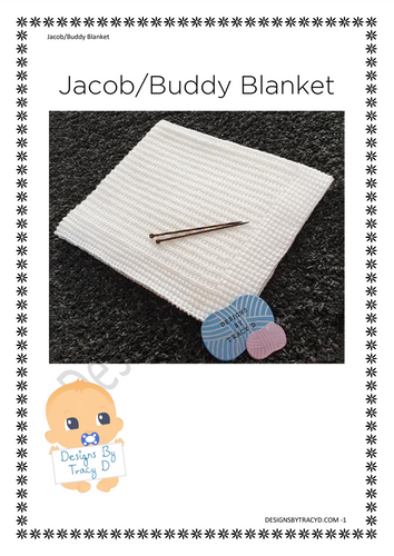 Jacob - Jake - Buddy Blanket- Posted - Designs By Tracy D