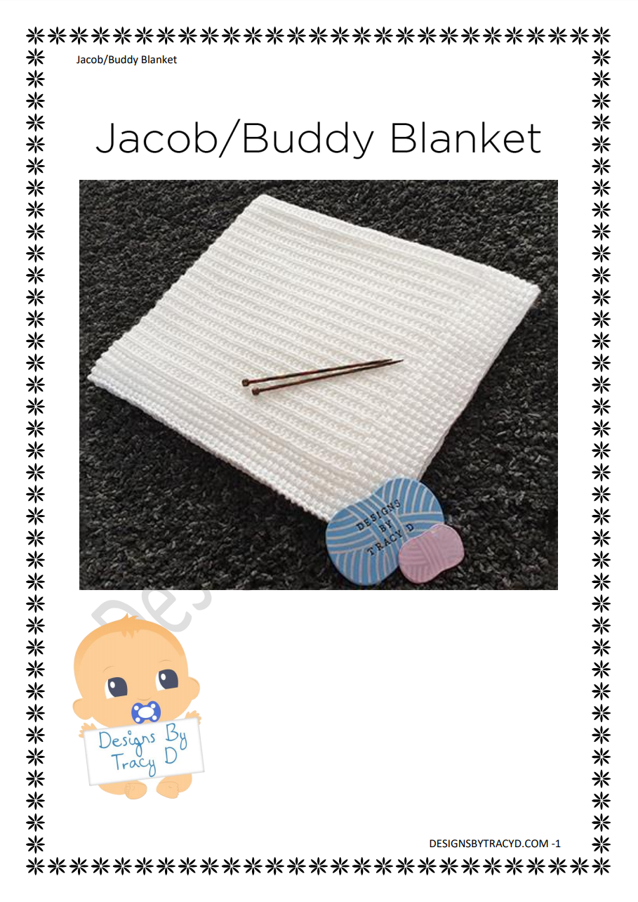 42. Jacob - Jake - Buddy Blanket - Download - Designs By Tracy D