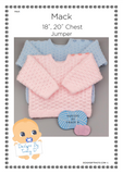 "Mack  Baby Jumper 18"" & 20"" chest Baby Knitting Pattern - Download - Designs By Tracy D"