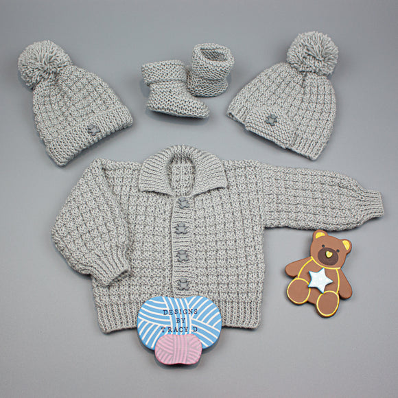 Noah Baby Knitting Pattern 0-12mths - Posted - Designs By Tracy D