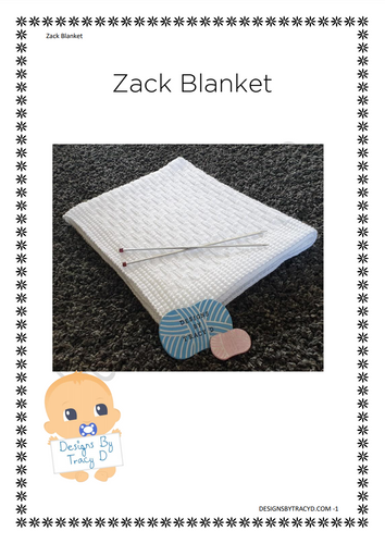 Zack Blanket- Download - Designs By Tracy D