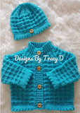 Caitlin Baby Knitting Pattern 0-3 & 6-12mths - Posted - Designs By Tracy D