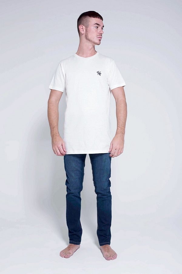 DEED LONGLINE T-SHIRT - WHITE