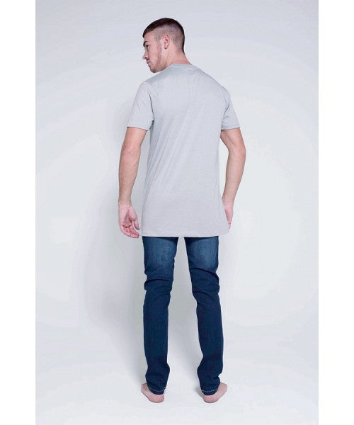 DEED LONGLINE T-SHIRT - GREY