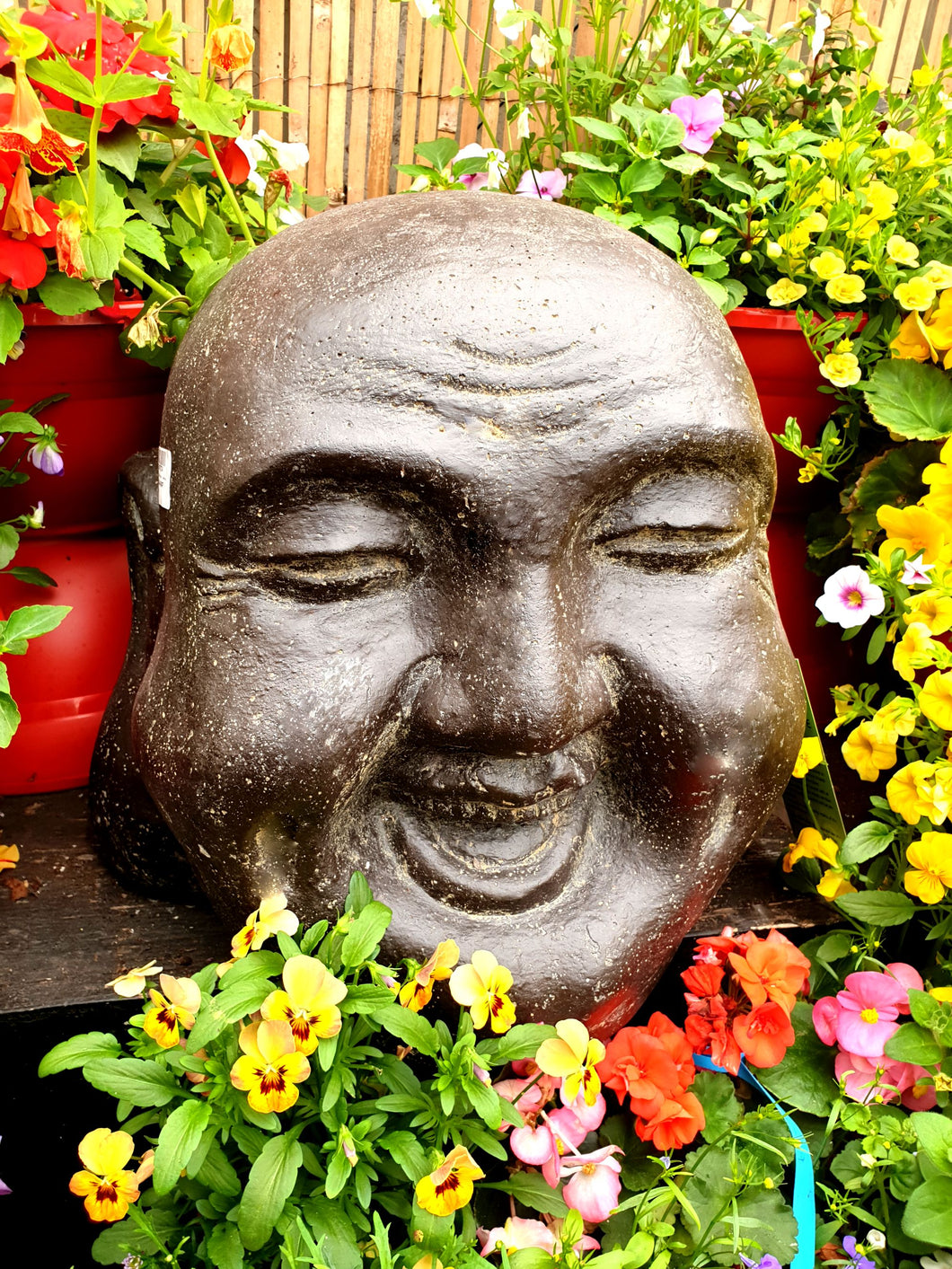 Laughing Buddha head