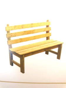 Wooden bench country style