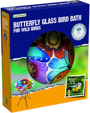 Load image into Gallery viewer, Gardman Decor Bird Bath Butterfly Glass Design