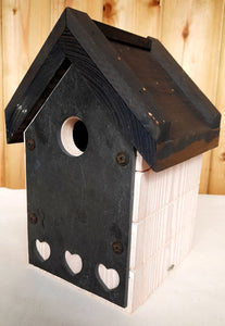 Slated bird house