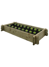 Wooden Ground Mounted Veggie Box