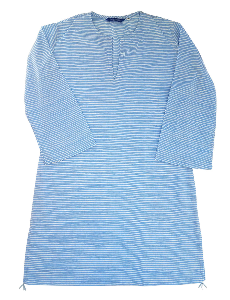 Nevis Beach Tunic in Serenity Stripes