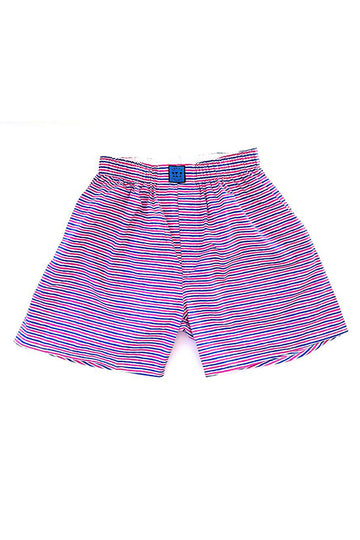 Block Island Boxer in Peppermint Stripes