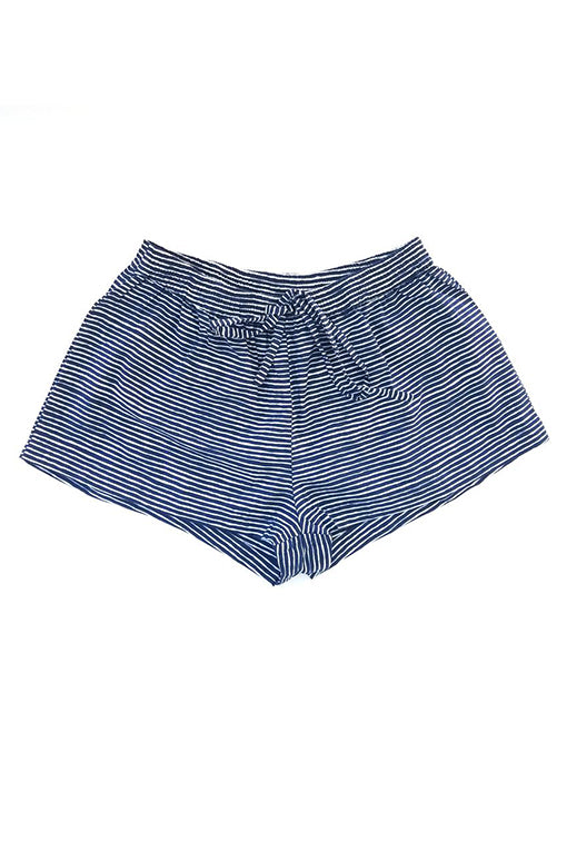 Sophie Sleep Shorts in Midnight stripes