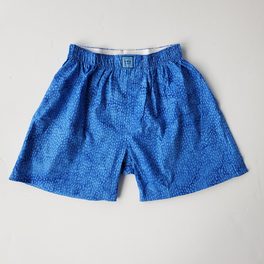 Block Island Boxer in Royal Dots