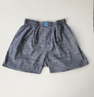 Block Island Boxer in Midnight Stripes