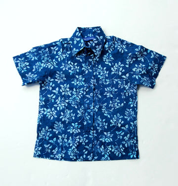 Sandy Point Camp Shirt in Leaf Erikson