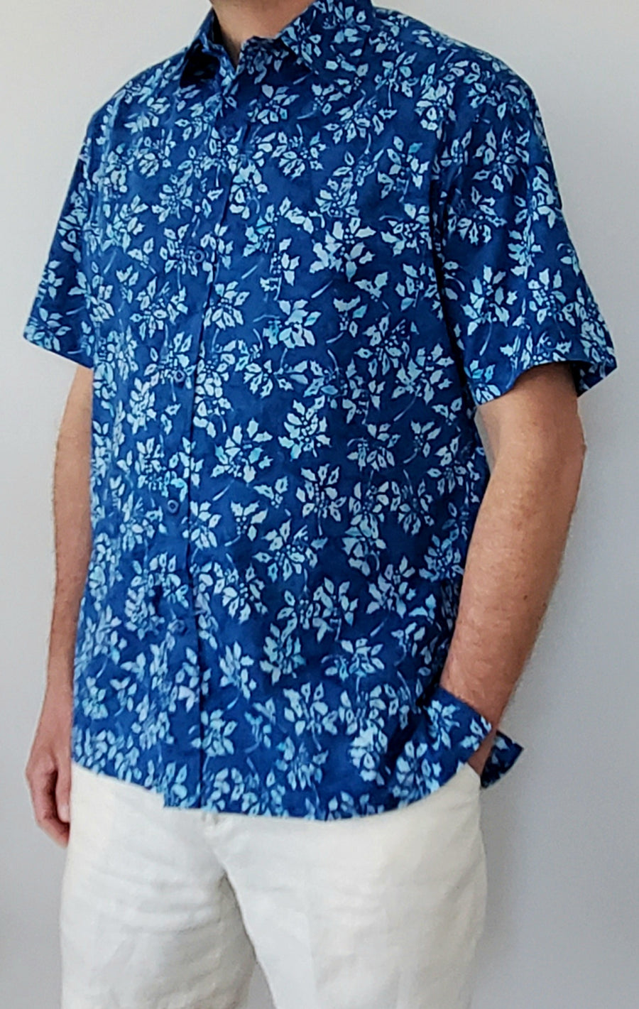 Shelter Island Camp Shirt in Leaf Erikson
