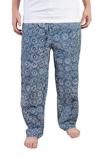 Mens House Pants in Indigo Sun Dial