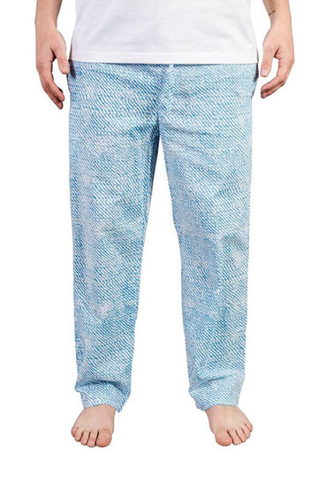 Mens House Pants in Sky Blue Wave