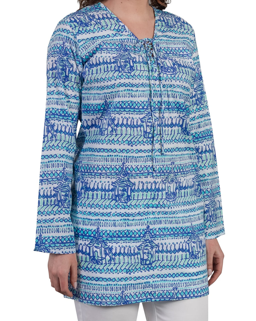 Nevis Beach Tunic in Monkey Business Bali Blue