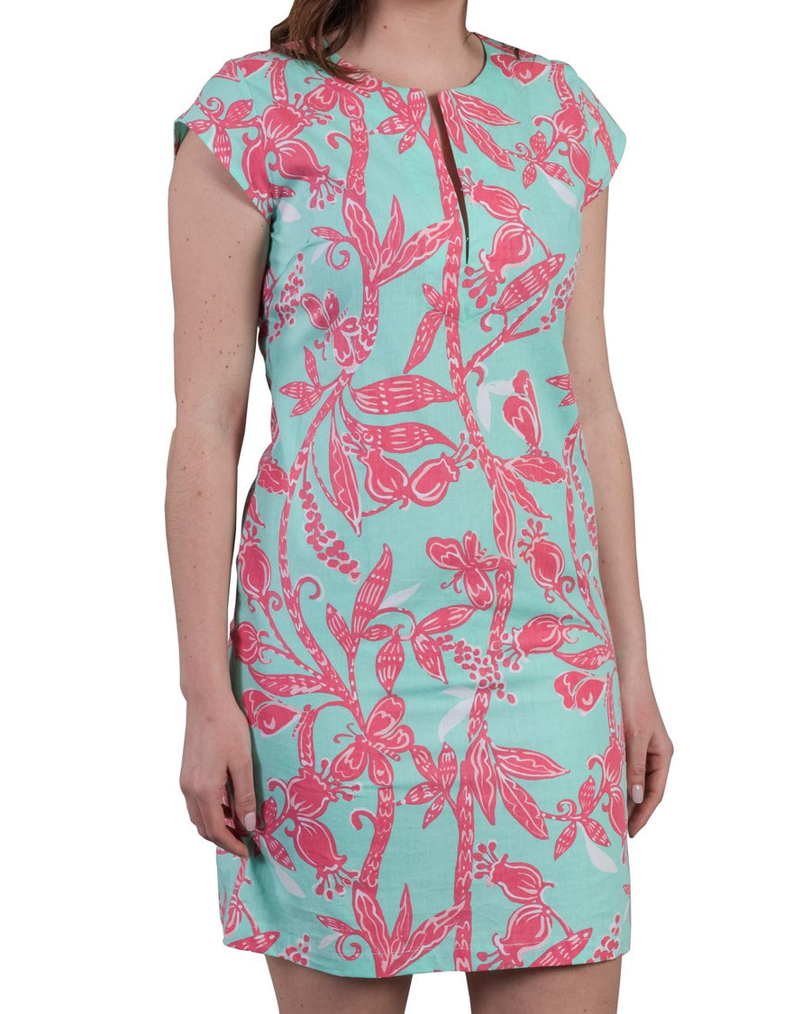 Julie Dress in Jungle Gym Bleached Aqua