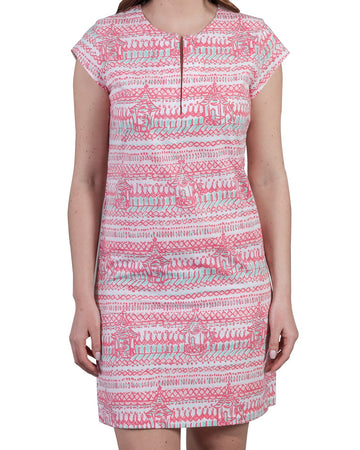 Julie Dress in Monkey Business Rasberry Ice