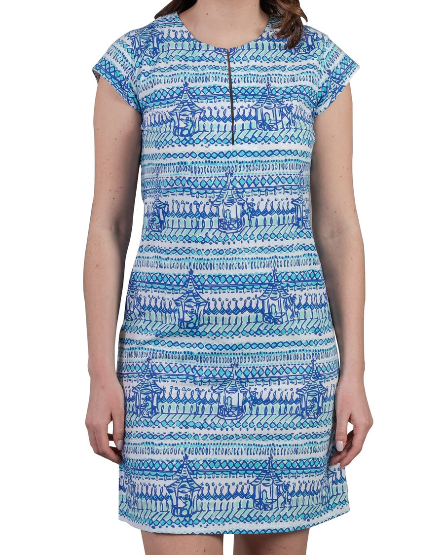 Julie Dress in Monkey Business Bali Blue