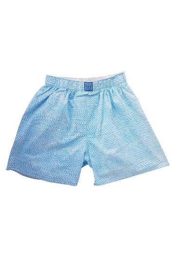 Block Island Boxer in Sky Blue Wave