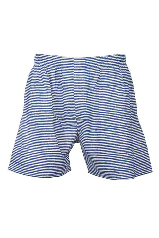 Block Island Boxers in Denim/White Painted Stripes
