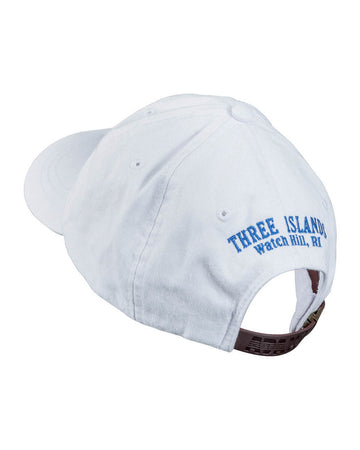 Three Islands White Logo Cap