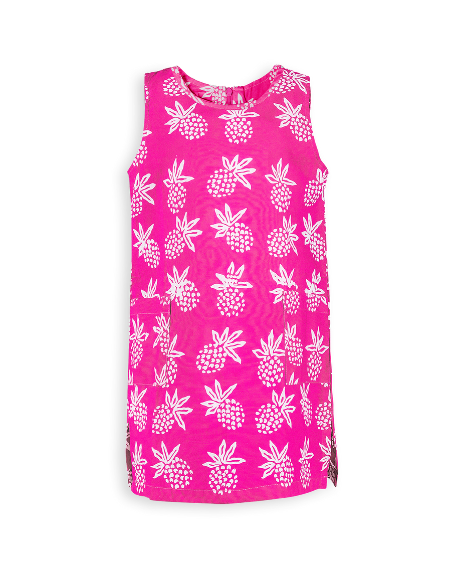 Island Hopping Dress in Peony Pineapple Express