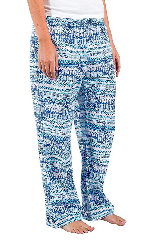 Ladies House Pants in Monkey Business Bali Blue