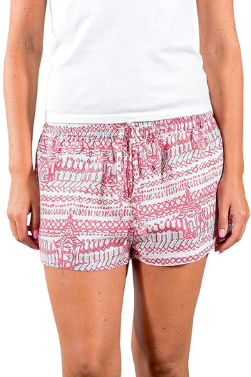 Sophie Sleep Shorts in Monkey Business Rasberry Ice