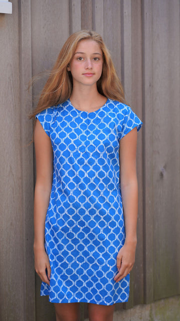 Julie Dress in Royal Jungle VIne