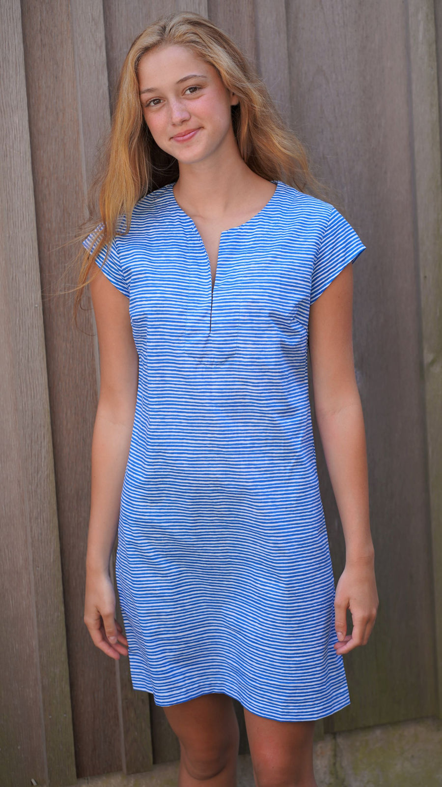Julie Dress in Ocean Stripes