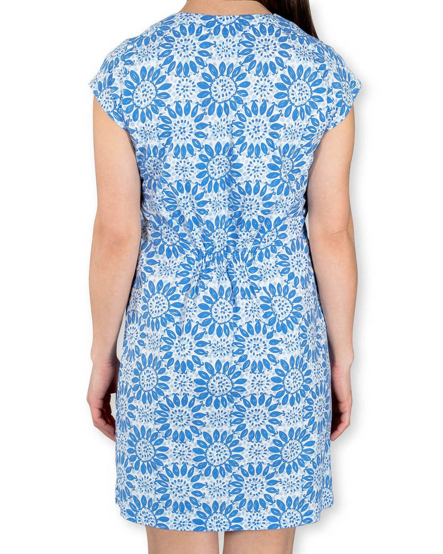 Julie Dress in Navy Shell Flower