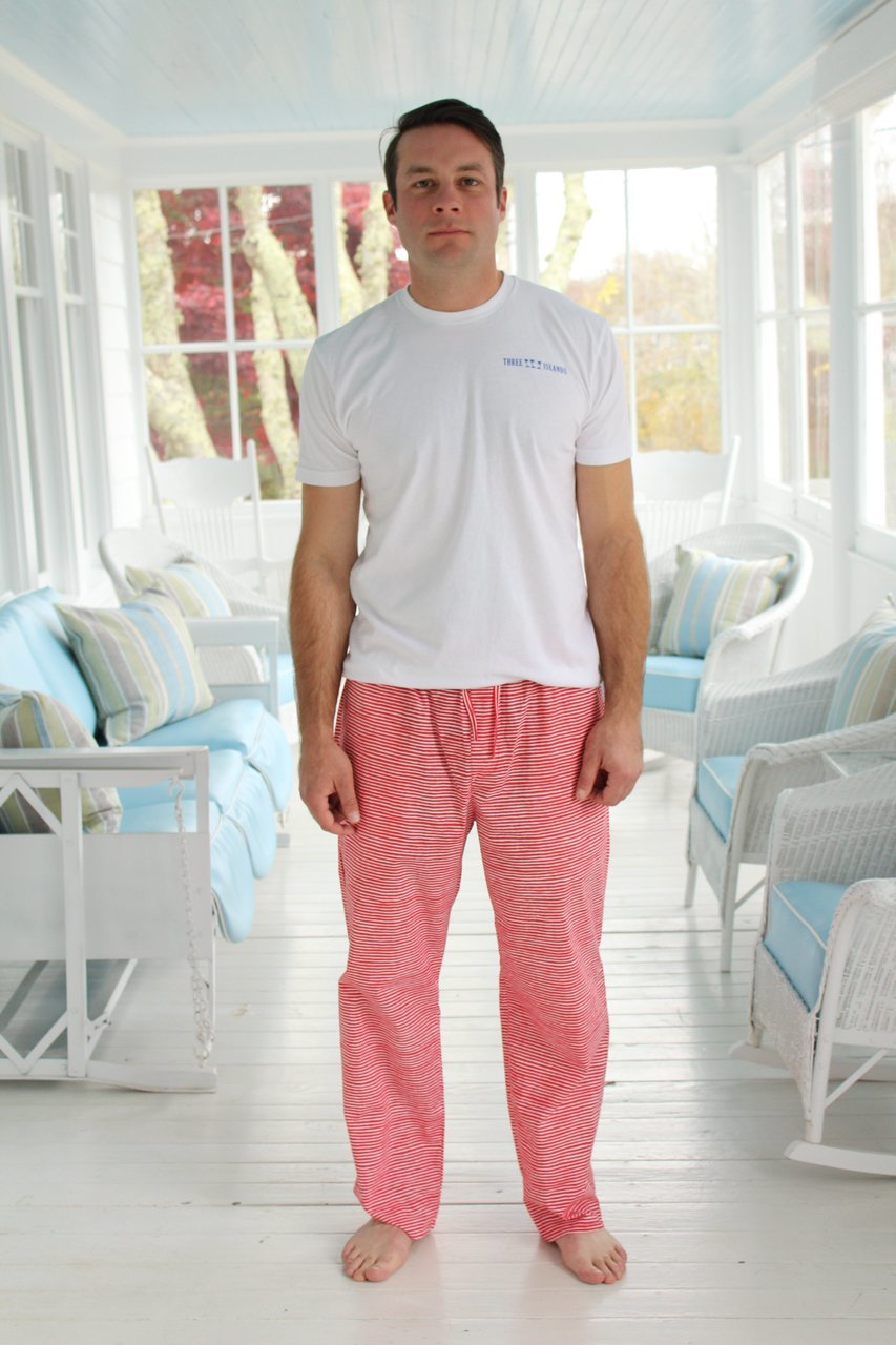 Mens House Pants in Santa Stripes